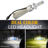 Bec LED L11 culoare duala HB4 - 9006 - Led auto, Universal