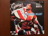 Rocky IV survivor burning heart single disc vinyl muzica rock soundtrack 1985, VINIL