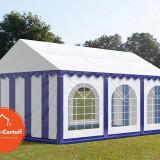 Cort Evenimente 4x6 m Premium 2 m Alb Albastru - Decoratiuni nunta