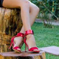Sandale dama Roxette rosii, Culoare: Rosu, Marime: 36, 37, 38, 39
