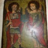 Icoana veche pictata pe lemn / ICOANA veche caractere chirilice peste 200 ani