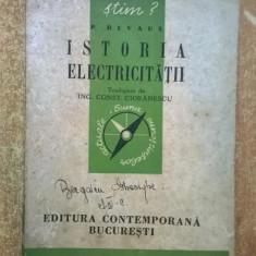 P. Devaux - Istoria electricitatii {1943}