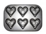 Tava de copt teflonata, 6 inimioare