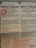 100 Franci Aur Obligatiune la purtator 1934 cu cupoane neincasate