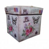 Taburet - cutie depozitare colorat