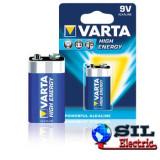 Baterie alcalina High Energy,9V, LR22,Varta