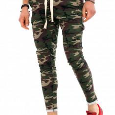 Pantaloni de trening army camulfaj - LICHIDARE DE STOC - 9779 - Pantaloni barbati, Marime: S, M, L, XL, Culoare: Din imagine