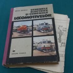 SCHEME ELECTRICE ȘI COMENZILE LOCOMOTIVELOR+PLANȘE/ MIHAI MARCU/ 1992 - Carti Transporturi