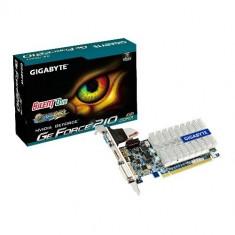 Placa video Gigabyte GeForce 210 1024MB DDR3 Silent - Placa video PC Gigabyte, nVidia