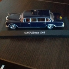 Macheta limuzina mercedes benz s klasse s600 pullman 1963 - ixo, scara 1/43. - Macheta auto