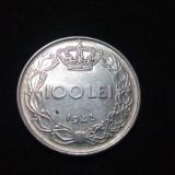 ROMANIA moneda 100 lei 1943 frumoasa