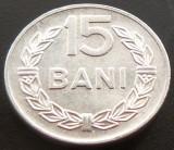 Moneda 15 Bani - ROMANIA, anul 1975 *cod 2736   Allu - A.UNC, Aluminiu