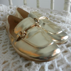 Atmosphere - pantofi aurii, noi, marimea 40/41 - Incaltaminte vintage