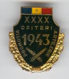 1943-1983 Promotie Ofiteri de ARTILERIE - Insigna superba Rara