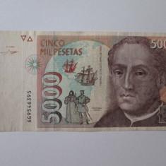 Spania 5000 Pesetas 1992 - bancnota europa
