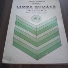 MANUAL LIMBA ROMANA GRAMATICA CLASA VIII ION POPESCU ED.DIDACTICA 1994 - Manual scolar, Clasa 8, Didactica si Pedagogica, Matematica
