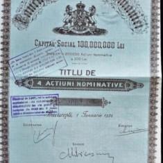 2000 Lei Banca Nationala a Romaniei Titlu la purtator 1926