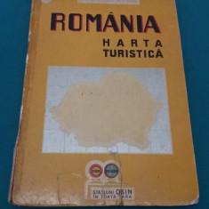 ROMÂNIA HARTA TURISTICĂ *STAȚIUNI OSIN ÎN TOATĂ ȚARA/1939 - Carte veche