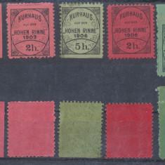 RFL 1903-1909 Posta locala Paltinis Hohe Rinne lot 5 timbre diferite neuzate MNH, Nestampilat