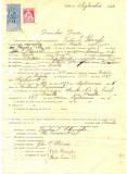 Z306 DOCUMENT VECHI -SCOALA COMERCIALA , BRAILA - TUDOR I. GHEORGHE -AN 1925