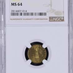 1 LEU 1950 MS 64 GRADATA NGC - MONEDA DE COLECTIE - Moneda Romania, Cupru (arama)