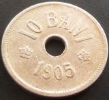 Moneda istorica 10 BANI - ROMANIA, anul 1905  *cod 5090