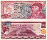 MEXIC 20 pesos 8 iulie 1977 UNC!!!