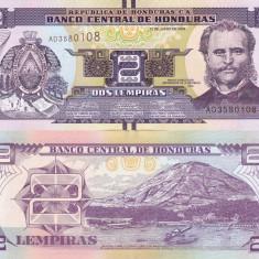 HONDURAS 2 lempiras 2014 UNC!!! - bancnota america