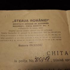 BRASOV -STEAUA ROMANIEI -SOCIETATE ROMANA DE ASIGURARI -RAMURA DE INCENDIU -1939