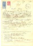 Z313 DOCUMENT VECHI -SCOALA COMERCIALA , BRAILA - ILIE CONSTANTIN  -AN 1925