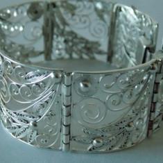 Bratara argint vintage filigran -1852