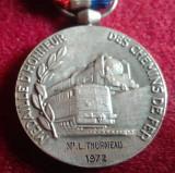 CAILE FERATE - tren - locomotiva - medalie cu panglica cu dedicatie