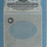 $100  Dolari Sua Aur  Obligatiune  Titlu de Stat la purtator Romania 1929