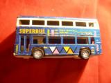 Jucarie- Autobuz supraetajat ,metal si plastic Keyes Cardiff Tara Galilor ,L=9,2
