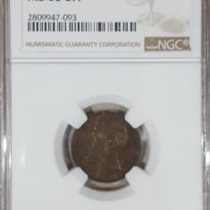 2 bani 1880 / 79 MS 63 BN - Moneda Romania
