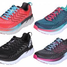Hoka Clifton 4 W pantofi alergare femei albastru-verde UK 7