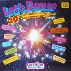Let's Dance - 20 Super Oldies (CBS 24001) disc vinil LP compilatie rock'n'roll