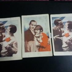 carti postale vechi,perioada interbelica,Portret de cuplu,color,colect,T.GRATUIT
