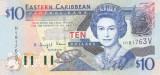 Bancnota Caraibe ( Eastern Caribbean - St.Vincent ) 10 Dolari (2003) - P43v UNC