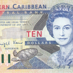 Bancnota Caraibe ( Eastern Caribbean - St.Vincent ) 10 Dolari (2003) - P43v UNC - bancnota america