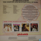 20 Originals The Country & Western Hall Of Fame disc vinil LP compilatie country