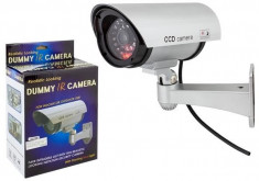 Set 4 camere supraveghere video  false cu  led  rosu avertizor , NOI foto