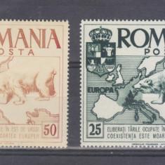 Romania  1958      EXIL      serie    MNH    dantelata  EROARE  CULOARE