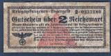 Germania 2 Reichsmark prisoner of war camp money s0233280