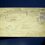 """Plic circulat cu timbru perfin """" Banca Romaneasca Bucuresti"""""""