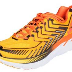 Hoka Clifton 4 pantofi alergare barbati gri-portocaliu UK 9 - Incaltaminte atletism