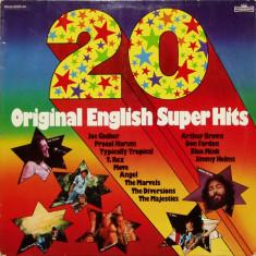 20 Original English Super Hits (1975, Intercord) disc vinil LP compilatie pop