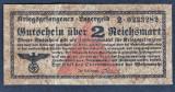 Germania 2 Reichsmark prisoner of war camp money s0233282