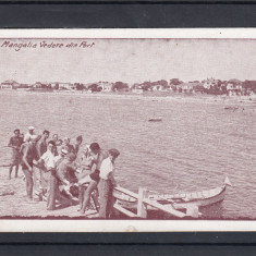 MANGALIA VEDERE DIN PORT EDITURA ALBANIA CONSTANTA - BUCURESTI - Carte Postala Dobrogea dupa 1918, Necirculata, Printata