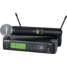 MICROFON PROFESIONAL WIRELESS  SHURE SLX4/SM58, KIT COMPLET,MADE IN USA.SIGILAT. foto